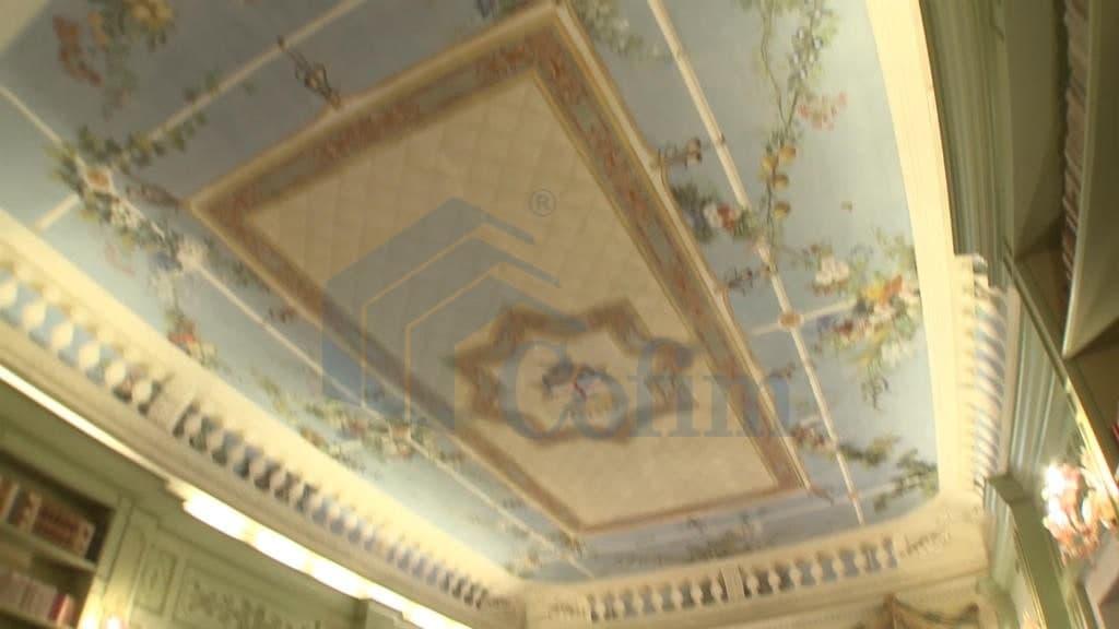 decorazione soffitto  villa d'epoca Venezia
