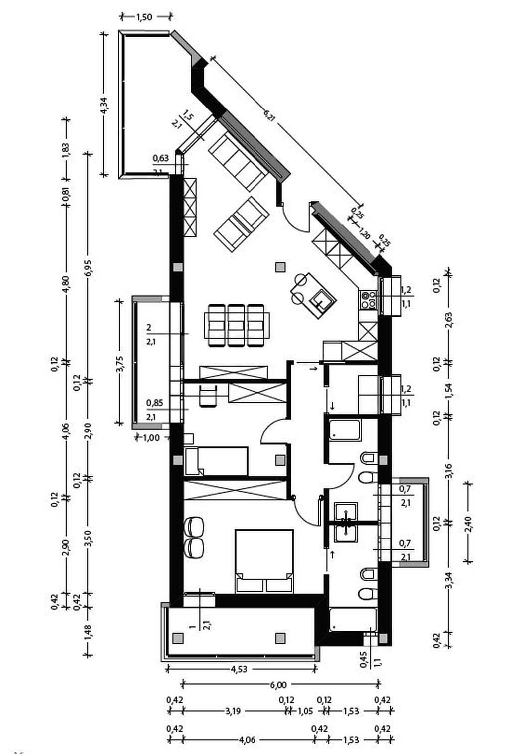 Appartamento in vendita a Peschiera- planimetria